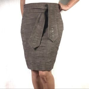 Harvé B. Pencil Skirt with Tie Belt Size 4
